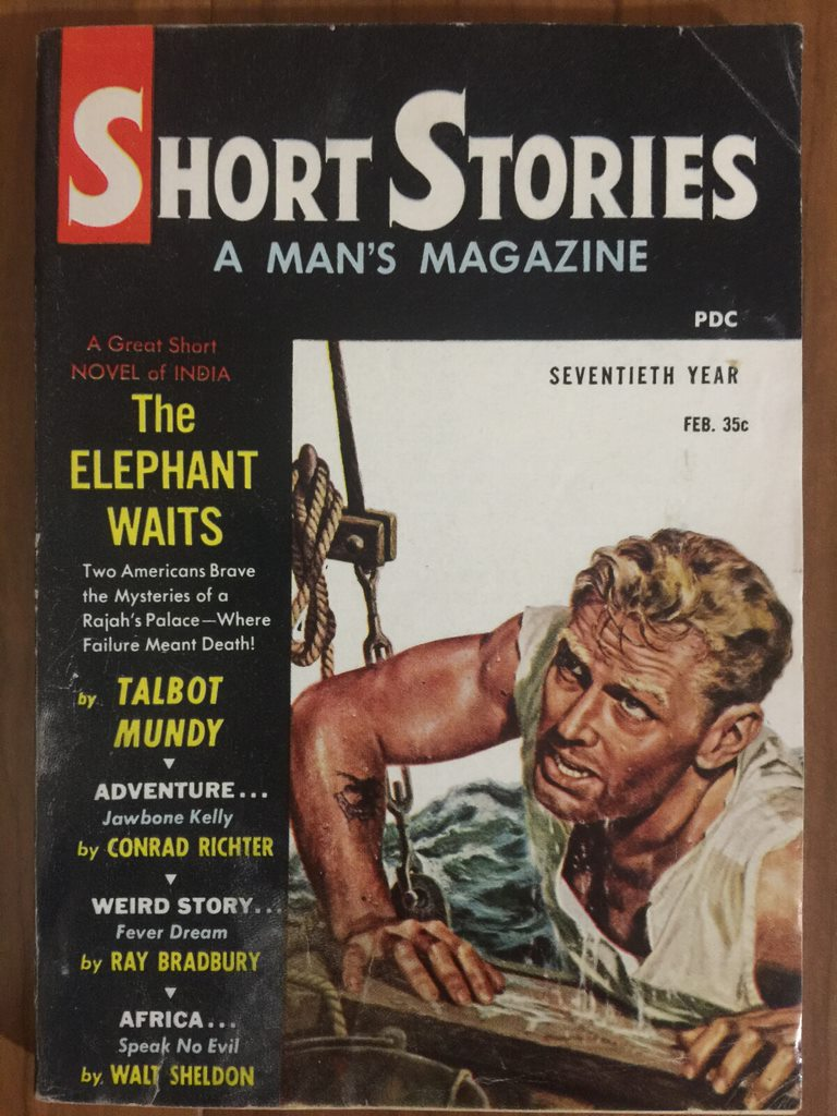 1959 Feb last digest-size issue of Short Stories mix of reprints and originals
